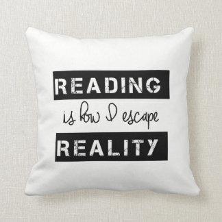 読書は現実が私によってがいかに脱出するかです クッション