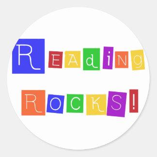 読書はTシャツおよびギフトを揺すります ラウンドシール