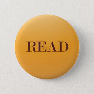 読書または読者または愛書家か本のギーク 5.7CM 丸型バッジ