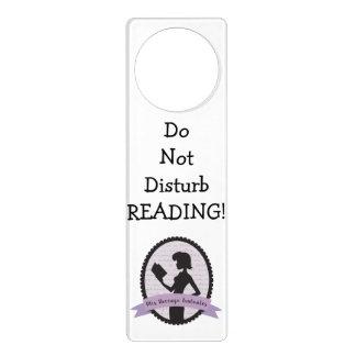 -読書を妨げないで下さい! ドアノブプレート