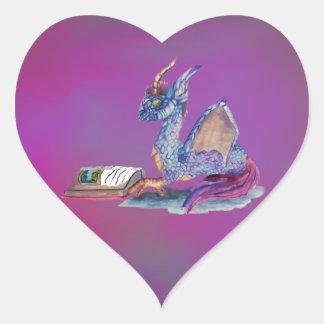 読書ドラゴン ハートシール