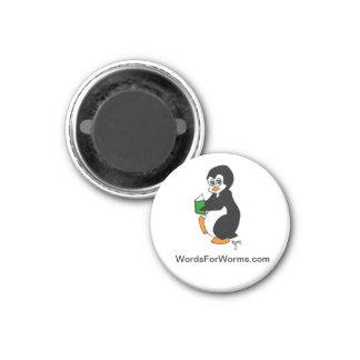 読書ペンギンを特色にする円形の磁石 マグネット