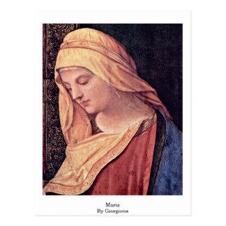 読書マドンナの詳細: Giorgione著マリア ポストカード