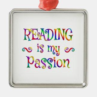 読書情熱のおもしろい メタルオーナメント