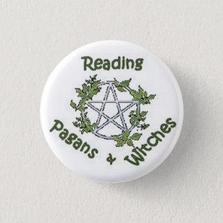 読書異教徒及び魔法使い小さいボタンPin 3.2cm 丸型バッジ