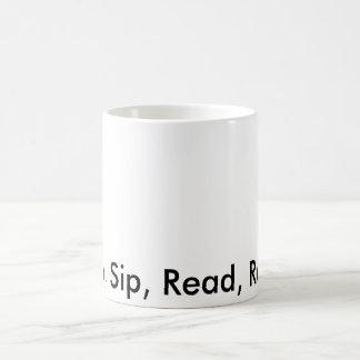 読書、一口、読書、繰り返し モーフィングマグカップ