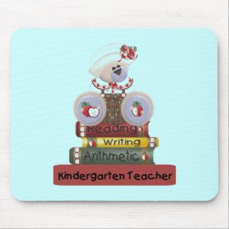 読書、執筆、算術幼稚園教師 マウスパッド