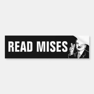 読書Mises バンパーステッカー