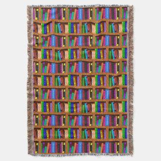 読者のための図書館の本棚パターン スローブランケット