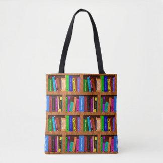 読者のための本の図書館の本だなパターン トートバッグ