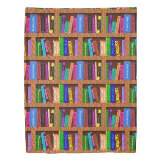読者の図書館は本だなパターンカラフルを予約します 掛け布団カバー