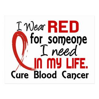 誰かのための赤私は血液の癌を必要とします ポストカード