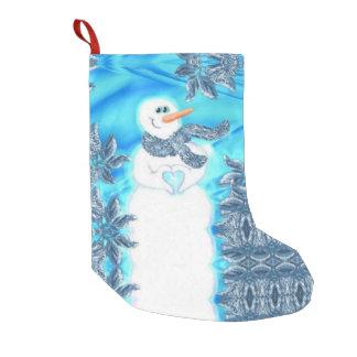 誰かは感情的な雪だるま愛します スモールクリスマスストッキング