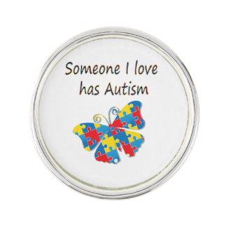 誰かはI愛は自閉症を経験します(数々のな) ラペルピン