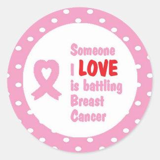 誰かはI愛乳癌を戦っています ラウンドシール