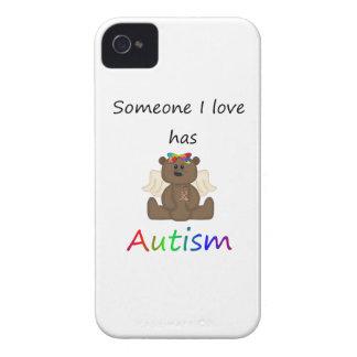 誰かはI愛経験します自閉症(女の子くま)を Case-Mate iPhone 4 ケース