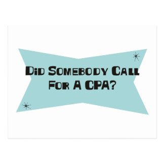 誰かをCPAのための呼出ししました ポストカード