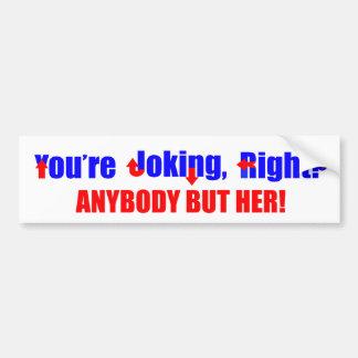 誰でもしかしヒラリー・クリントンのバンパーステッカー バンパーステッカー