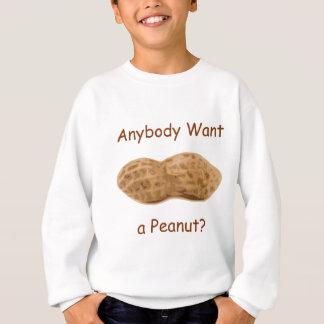 誰でもはピーナツがほしいと思いますか。 貝の巨大なピーナツ スウェットシャツ