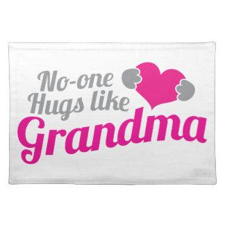 誰も祖母のように抱き締めます ランチョンマット