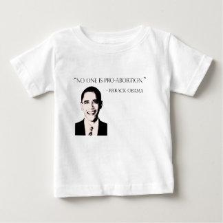 誰も親中絶のベビーのTシャツではないです ベビーTシャツ