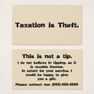 課税は盗難です: 先端カード 名刺
