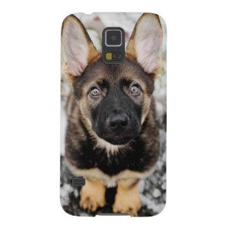 調べているかわいい子犬 GALAXY S5 ケース