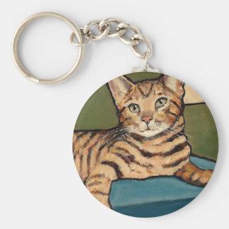 調べているベンガル猫元の絵画 キーホルダー