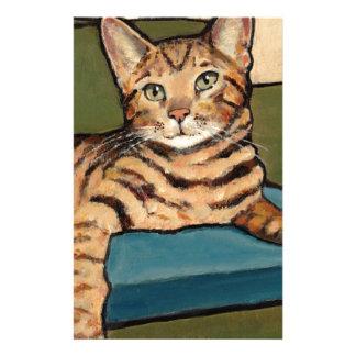 調べているベンガル猫元の絵画 便箋