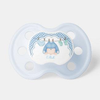 調停者か男の赤ちゃんの水玉模様および洗濯 おしゃぶり