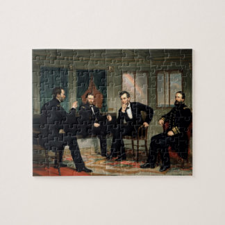 """""""調印者""""の- Abeリンカーンのパズル ジグソーパズル"""