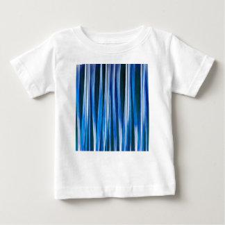 調和および平和青くストライプので抽象的なパターン ベビーTシャツ