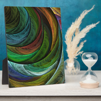 調和の抽象美術のプラクを着色して下さい フォトプラーク