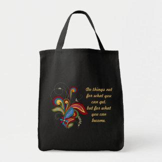 調和の渦巻の断言のキャンバスのバッグ トートバッグ