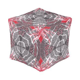 調和の赤い白黒pouf プーフ