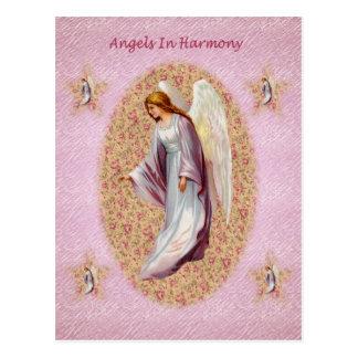 調和の郵便はがきの天使 ポストカード