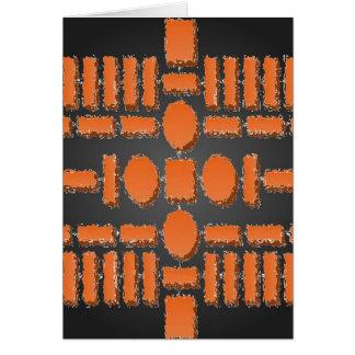 調和-未来派の飛石パターン カード