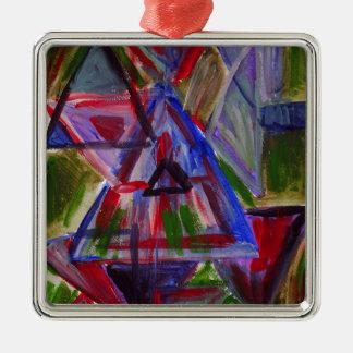 調子の原住民、三角形とのボヘミアの芸術を埋めて下さい メタルオーナメント