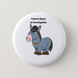 調査のろばの漫画のFBIの中央政府Burro 5.7cm 丸型バッジ