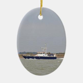 調査のボートの検定器 セラミックオーナメント