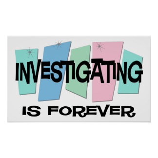 調査は永遠です ポスター