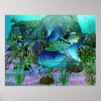 調査3Dの鮫 ポスター