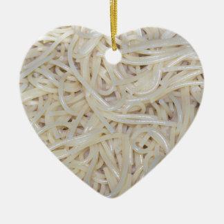 調理されたスパゲッティヌードル セラミックオーナメント