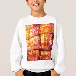 調理されたベーコンの織り方 スウェットシャツ