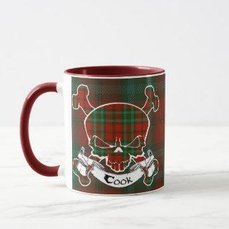 調理師のタータンチェックのスカルのマグ マグカップ