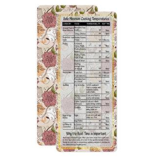 調理師の助手安全な料理の臨時雇用者カード#5 カード