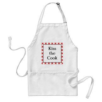 調理師の台所カスタムなレトロの発言に接吻して下さい スタンダードエプロン