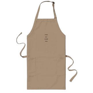 調理師は、エプロンを食べましたり、眠りましたり、走ります ロングエプロン