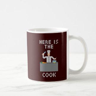 調理師-マグ--はここにあります コーヒーマグカップ