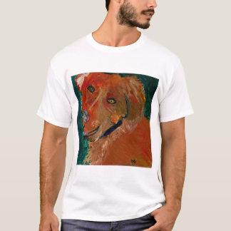 調的でストライプなティー犬の芸術Zach Tシャツ